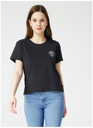 Levi's® Levis Kadın Siyah Bisiklet Yaka T-Shirt Siyah